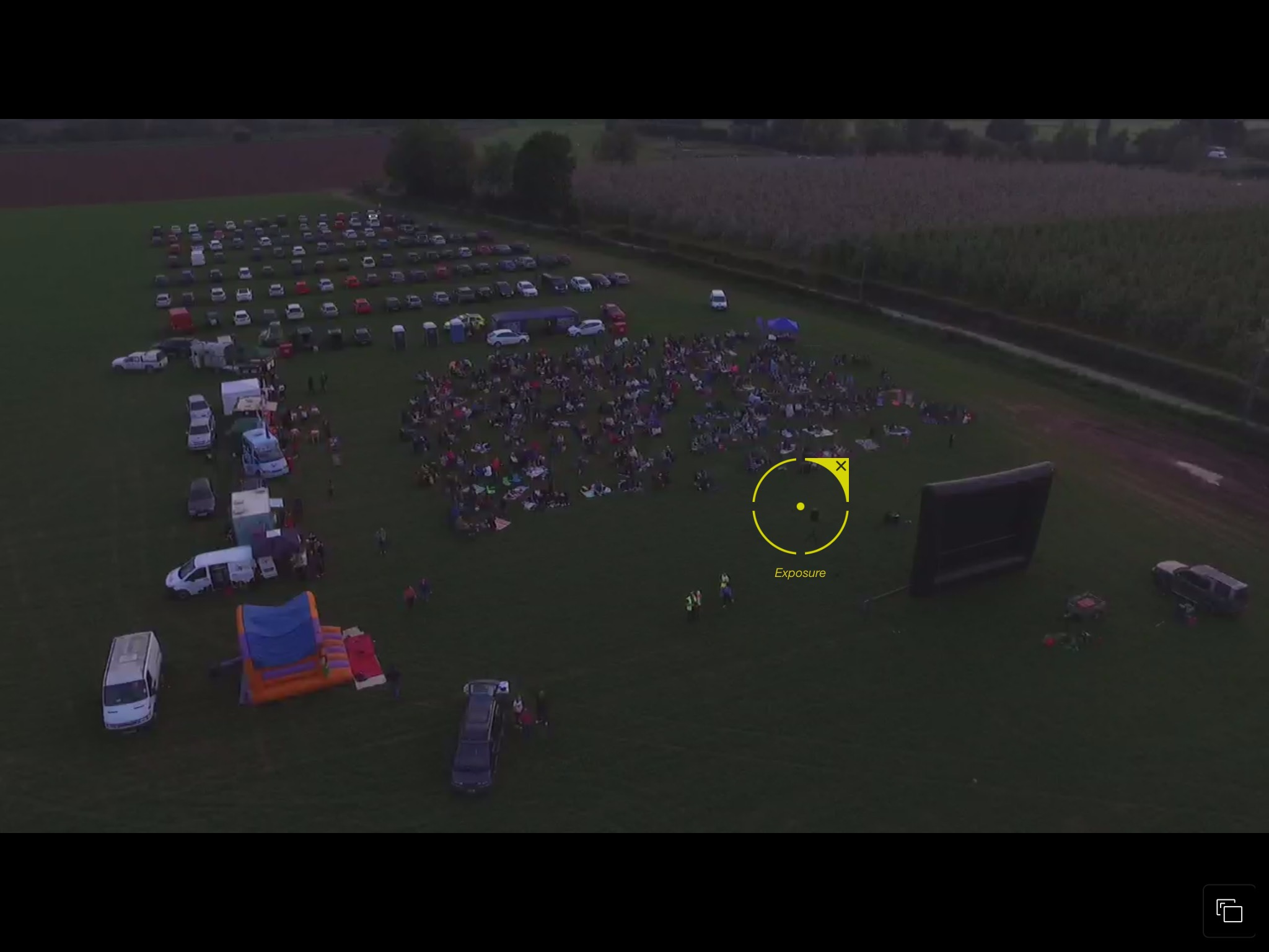 Open air cinema event