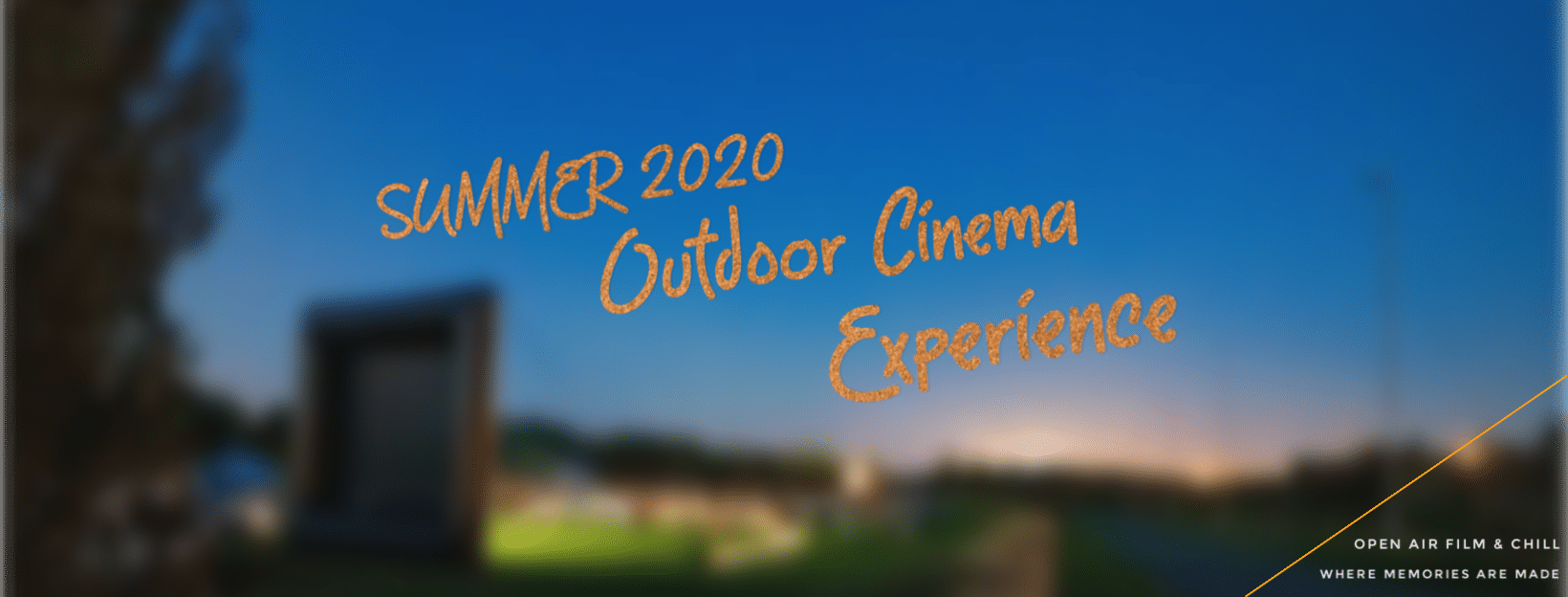 poster advertising summer 2020 outdoor cinema experience